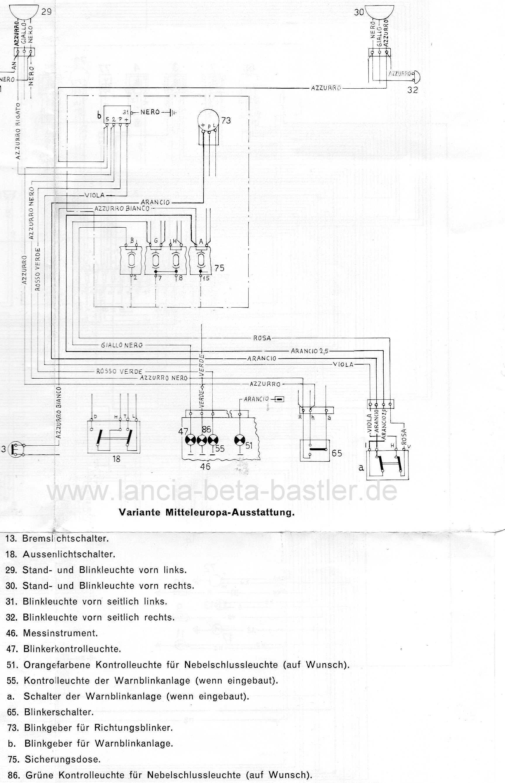 Schaltplan Lancia Montecarlo